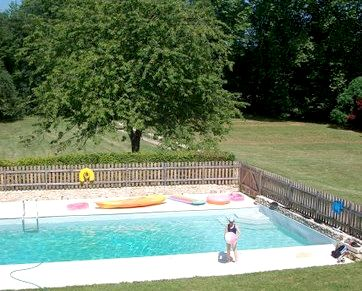 View of the pool from master bedroom