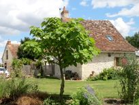 Chene & Saule cottages, private terrace each, shared sunny garden courtyard and shady dining/play barn plus loads more room to play or to drag a chair to hide & relax with a good book!