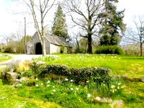 Party barn in spring time
