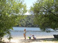 Beach at the Lac de Guerledan