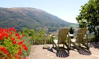 Enjoy the views and relax with a glass of wine