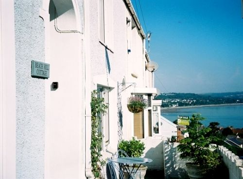 The view towards the sea from the front of the cottage