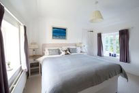 Master bedroom with views over the New Forest