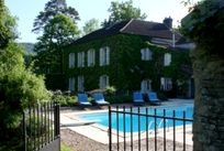The exterior with pool