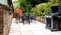 Private terrace with BBQ and fire pit table