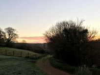 Sunrise down the valley