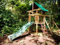 a play area near the coach house