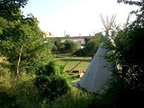 Tipi and cottages