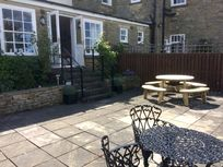 Large private patio at 2 Sneaton Hall
