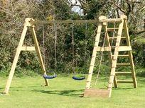 Swings in the meadow
