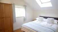 The Hayloft - second bedroom made up as a king - sized double bed