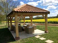Oak framed outdoor lounge
