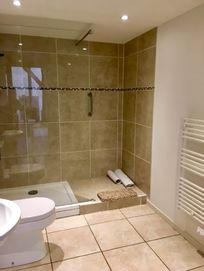 Luxury shower room on the ground floor