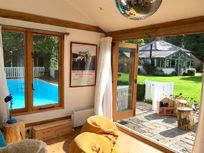 Sunnydell - Forest Getaway with Pool and Playroom Image 15