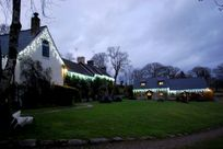 Main lawns and cottages at Xmas