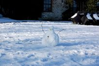 Snowman outside Ivy Cottage