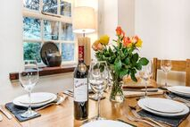 Dining table in Bramble Cottage