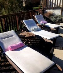 Relax on a poolside lounger - pool towels are provided.