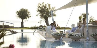 Family Friendly Holidays at Sani Dunes- Family Room with Private Garden