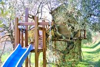 Tree house in the olive grove