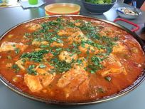 Fabulous family dinners for one lunch a week! Fish tagine, paella etc!
