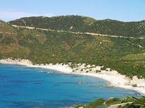 Coastline around the villa