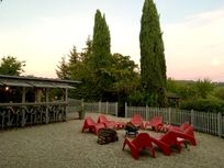 Terrace at sunset!