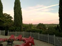 The terrace at sunset!