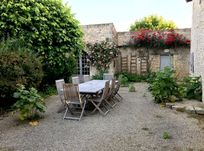 Courtyard and outdoor dining area