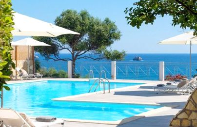 Family Friendly Holidays at Avithos Beach Estate - Two Bed Suite Side Sea View