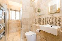Coot Cottage walk -in shower & bathroom