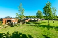 Shared gated gardens at Cranmer Country Cottages
