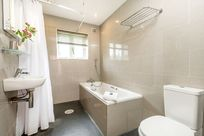 Tern cottage bathroom with walk-in shower