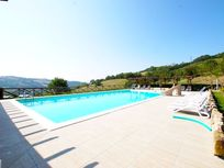 The amazing pool with a view at Pian Di Cascina