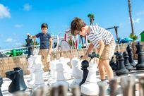 Giant Chess at Finca De Arrieta