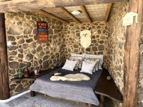 Shaded private day bed