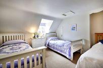 Three comfortable single beds