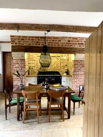 Cosy kitchen with seating for six