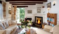Lounge and fireplace