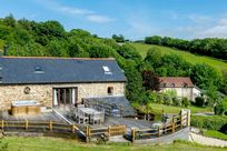 Barn with private hot tub