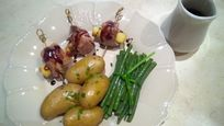 Home cooked 3 course meals available: duck with apples and honey balsamic sauce