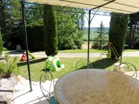 Vionnet private outside dining space + veranda overlooking the valley