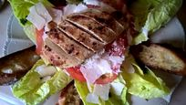 Homemade 3 course meals available: chicken Caesar salad