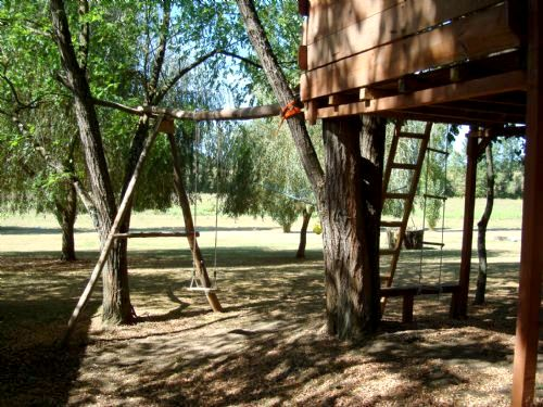 Great fun on your doorstep, tree house and swing within the grounds.
