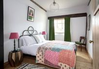 The Emerald room with double bed