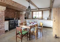 The farmhouse kitchen with range cooker