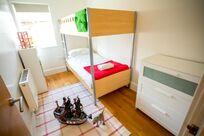 The kids bunk bedroom