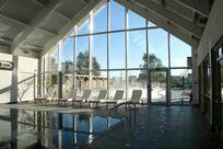 The heated indoor pool at the Spa