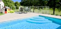 The heated pool is kept lovely and warm to ensure our younger guests can have lots of fun