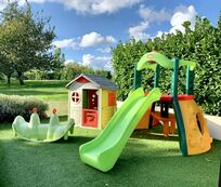 Little Tikes play area, Wendy house, see saw for our youngest guests